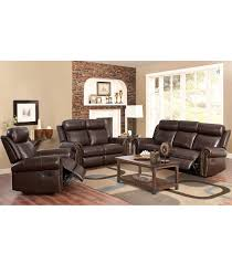 Living Room Leather Sets Living Room Sets Fairfax 3 Pc Leather Set