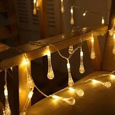 Us 1399 Hochzeitsdekoration Weiß Warm Transparenten Wassertropfen Fee Lichterketten Nachtbar Party Dekoration Tisch Christbaumschmuck Girlande In