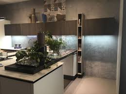 kitchen vertical space storage for books and led under cabinet lighting