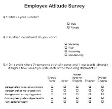 Sample Employee Questionnaire Employee Attitude Survey Questionnaire Sample Employee Attitude