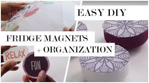DIY Fridge Decor - Magnets and Dry Erase Board - YouTube