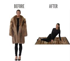 recycled fur fashion remodelling fur coat old