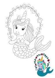Print unicorn coloring pages for free and color our unicorn coloring! Unicorn Mermaid Coloring Pages 6 Free Printable Coloring Pages 2020