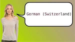 Como dizer 'alemão (Suíça)' em ingles? - YouTube