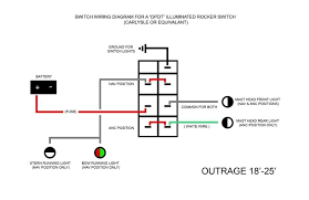 carling switches wiring diagram all wiring diagrams baudetails dpdt switch for control of navigation lamps moderated discussion