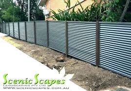 corrugated metal fence retaining wall panels explore fences cost fen