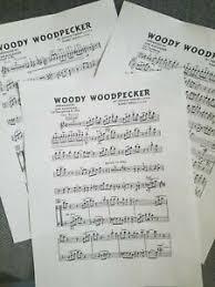 Details About Woody Woodpecker Big Band Chart Arrangement