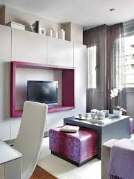 Quirky Furniture For Ikea Small Space Ideas Dousuke Under Stairs Adorable  Purple And White Wall Can living room ...