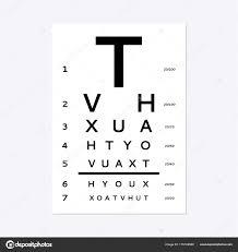 Eyes Test Chart Stock Vector Olhayerofieieva 179102580