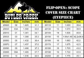 Vortex Flip Cap Size Chart Butler Creek 19 Eyepiece Flip Open Scope Cover
