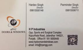 office doors with windows. Visiting Card - H P Doors \u0026 Windows Photos, Jalandhar City, PVC Door Office With F