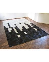 patchwork cowhide rugs black white random patchwork cowhide rug 440 faux fur