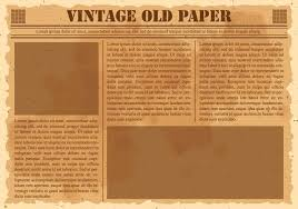 Newspaper Template For Photoshop Old Vintage Newspaper Template Photoshop Pluggedn