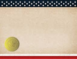 Great Papers - Patriotic Completion (Blank) Certificate