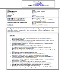 Importance Of A Resume Mba Marketing Resume Format For Freshers