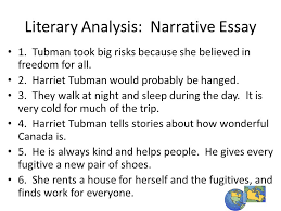 harriet tubman guide to dom ppt video online  literary analysis narrative essay