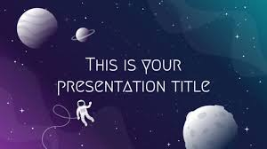 Space Google Slides Theme Free Powerpoint Template Google Slides Theme With Galaxy