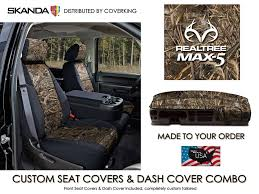 realtree max 5 camo front custom seat covers dash cover for toyota tundra