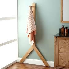 standing towel rack brushed nickel. Free Standing Towel Holders For Bathrooms Teak Rack Brushed Nickel Freestanding Stand