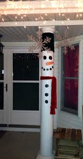 Turn your front porch pillars in to Snow Men !