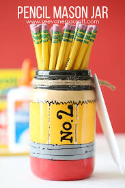 craft back to pencil mason jar teacher gift