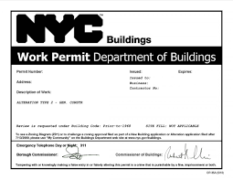 Nyc Building Permits What Does Nb Alteration Type I Ii Iii