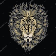 фон черный татуировки картинки черных львов эскиз татуировки