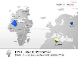 Free Interactive Maps For Powerpoint Powerpoint Map Emea Region Presentationload