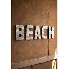 painted recycled wood beach letters wall d cor on wall art wooden letters with wooden letters for wall wayfair