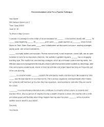 Letter Of Recommendation Teacher Reference Letter Character For Teacher Example Student
