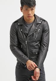 serge pariente rocker leather jacket black men s zip pockets jackets lapel collar zip 100 leather gg54dd7v
