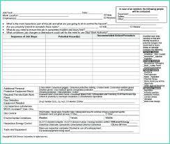 Job Safety Analysis Template Work Workflow Free Permit To