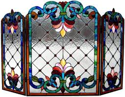 modern concept leaded glass fireplace screens stained glass fire screen stained glass fire screens