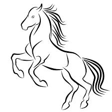 картинки лошадь татуировка логотип прыгать линия черный