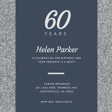60th birthday invitations for him male 60th birthday invitations godfather birthday invitation
