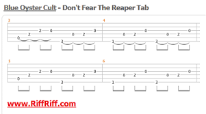 don t fear the reaper sheet music dont fear the reaper by blue oyster cult lean how to play guitar