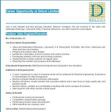 Delcot Limited Sales Engineer/ Executive Job Circular | Vacancy ...