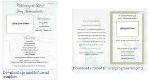 Free Funeral Program Templates Download Best Our Favorite Actually Free Funeral Program Templates Urns Online