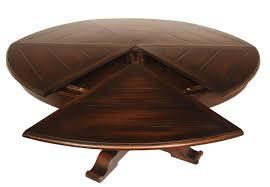 Image Leaf Country Jupe Table Solid Walnut Ebony Finish 6484 Inches Round Antique Purveyor Large 64 To 84 Round To Round Country Expandable Jupe Table