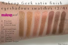 makeup geek eyeshadows satin finish pocket change glamorous cosmopolitan roulette country