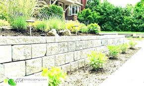 building a retaining wall on slope granice info