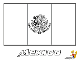 Mexico Flag Coloring Page Mexico Flag Coloring Page You Have All ...