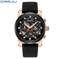 <b>CRRJU</b> Large dial design Chronograph Sport <b>Mens Watches</b> ...