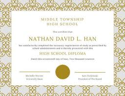 decorative gold high school diploma templates by canva decorative gold high school diploma