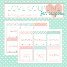 Relationship Coupon Book Free Printable Love Coupons For Couples Fulfilling Your Vows