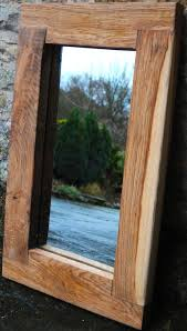 wooden mirror handmade oak frame