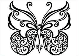 Butterfly Flowers Coloring Pages And Colouring Butterflies Free Of