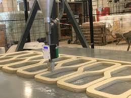 Kết quả hình ảnh cho Fabrication of 3D-printed concrete bridge begins