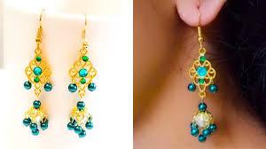 how to make pearl designer earrings diy pearl chandelier earrings earrings making