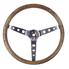 grant steering wheel kit classic nostalgia wood 15 with mustang horn on